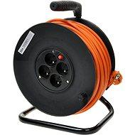 PremiumCord 25 m Verlängerungskabel auf Trommel, 230 Volt, 4 Steckdosen, orange - Ladekabel