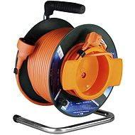 PremiumCord 25 m Verlängerungskabeltrommel 230, orange - Ladekabel