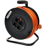PremiumCord 50 m Verlängerungskabel auf Trommel, 230 Volt, 4 Steckdosen, orange - Ladekabel