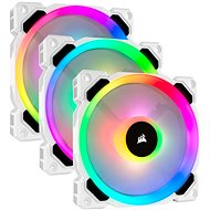 Corsair LL120 RGB 120mm Dual Light Loop White RGB LED PWM Fan — Triple Pack with Lighting Node PRO - PC-Lüfter