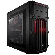 Corsair SPEC-03 rote LED-Carbide-Serie schwarz mit transparenten Seiten - PC-Gehäuse