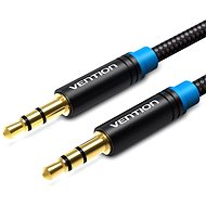 Vention Cotton Braided 3.5mm Jack Male to Male Audio Cable 5m Black Metal Type - Audio Kabel