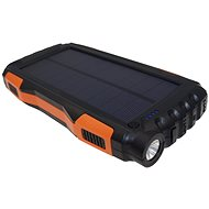 Viking Solare PowerBank B-25 25000mAh Schwarz-Orange - Solarladegerät mit Baterie