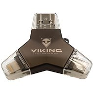 Viking USB Stick 3.0 4v1 128GB Schwarz - USB Stick