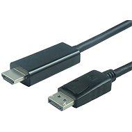 PremiumCord DisplayPort - HDMI Anschluss von 3 m schwarz - Videokabel