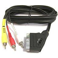 PremiumCord SCART-Kabel - 3 x CINCH M / M 1.5 ms mit einem Schalter - Datenkabel