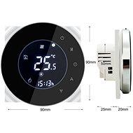 iQtech SmartLife GCLW-B, WLAN-Thermostat für Warmwasserboiler und Kessel mit Potentialfreier Schaltung, schwarz - Thermostat