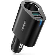 Ugreen Dual USB (18 W QC 3.0 + 12 W) + Erweiterung der Anschlussbuchse am Zigarettenanzünder 60 Watt Schwarz - Autoladegerät