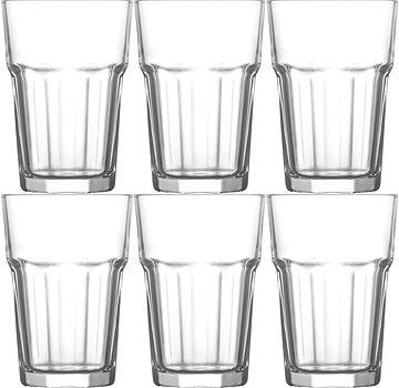 Kleines Wasserglas zum Kaffee transparent stilvoll 120 ml 6er Set