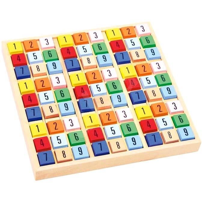 Farbiges Holz-Sudoku - Didaktisches Spielzeug