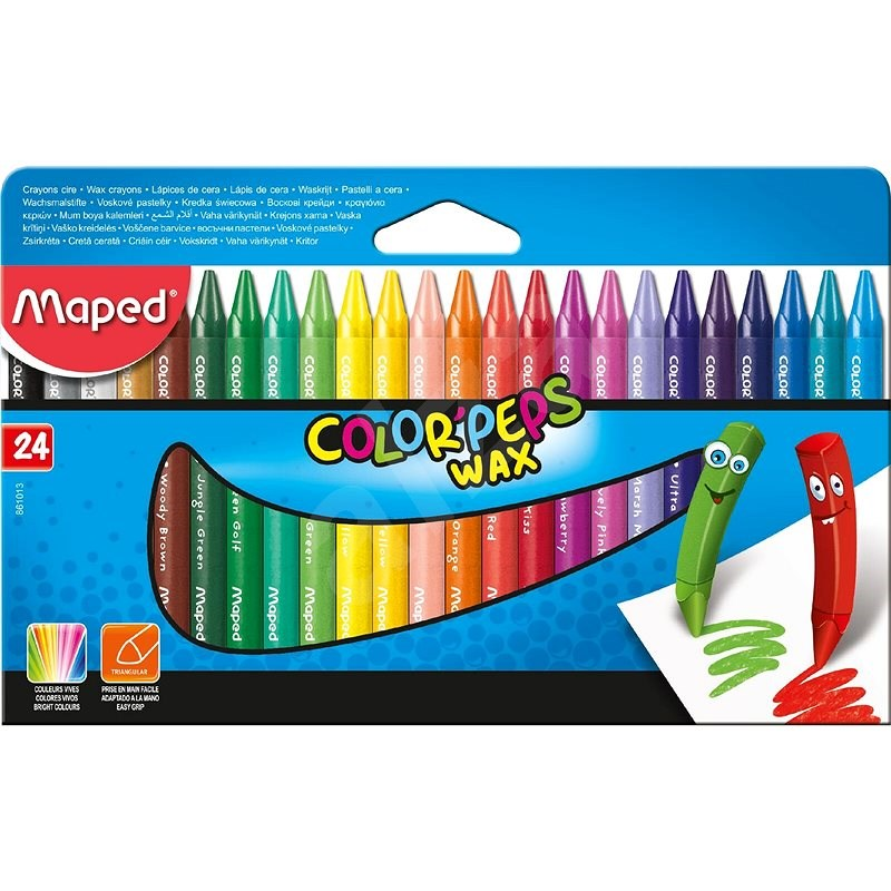Wachsmalstifte Maped Color Peps Was, 24 Farben - Bundstifte