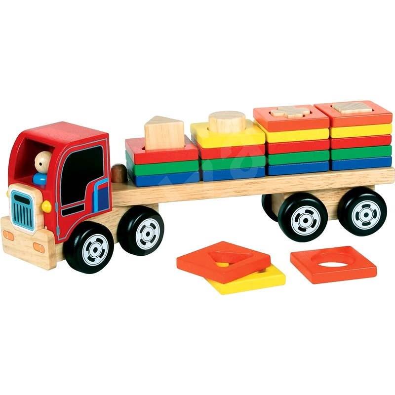 Holz-Lastkraftwagen mit Einsatz - Holzmodell