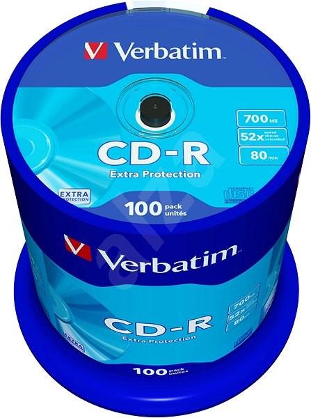 Verbatim CD-R 52x DataLife Protection, 100 Pack Cakebox - Media