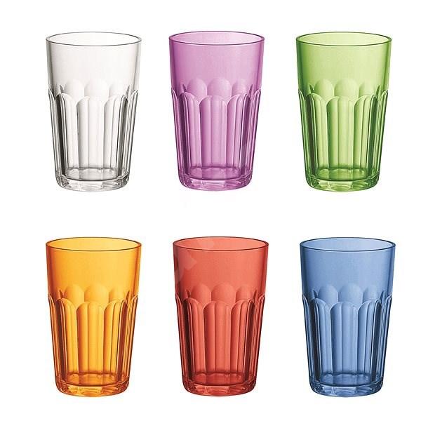 Guzzini Set aus Kunststoff High Cups 420ml, Mischung aus Farben ...