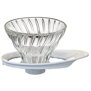 Hario Dripper aus Glas für Kaffee V60-01 - Filter-Kaffeemaschine