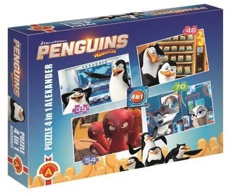 Die Pinguine aus Madagascar 4v1 - Puzzle