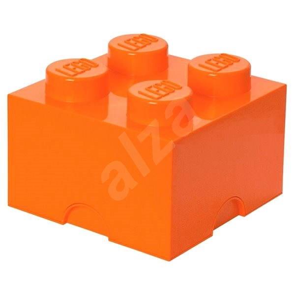 LEGO® Aufbewahrungsstein mit 4 Noppen 250 x 250 x 180 mm - Orange - Aufbewahrungsbox