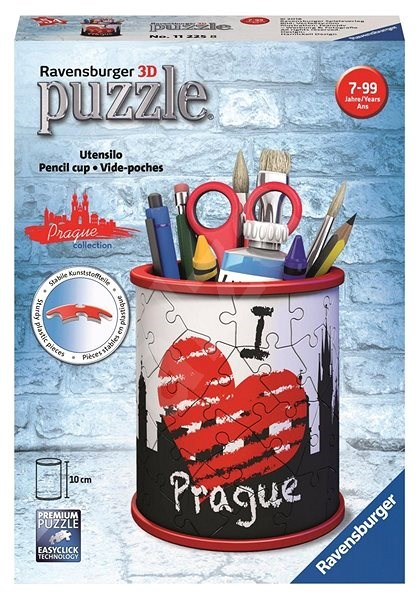 Ravensburger 3D 112258 Bleistiftständer I love Prague - 3D Puzzle