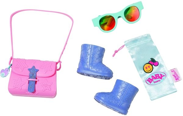 BABY Born Butik Set mit Handtaschen, Füßlingen und Accessoires - Zubehör für Puppen