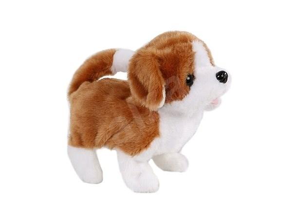Plüsch Hund weiß braun Stoffspielzeug | Alza.at