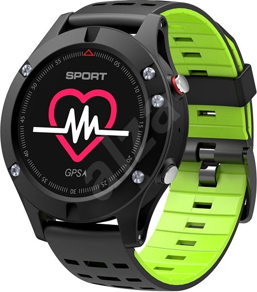 IMMAX SW8 schwarz-grün - Smartwatch