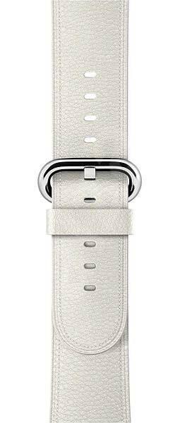 Apple 42mm weiß mit klassischer Schnalle - Armband