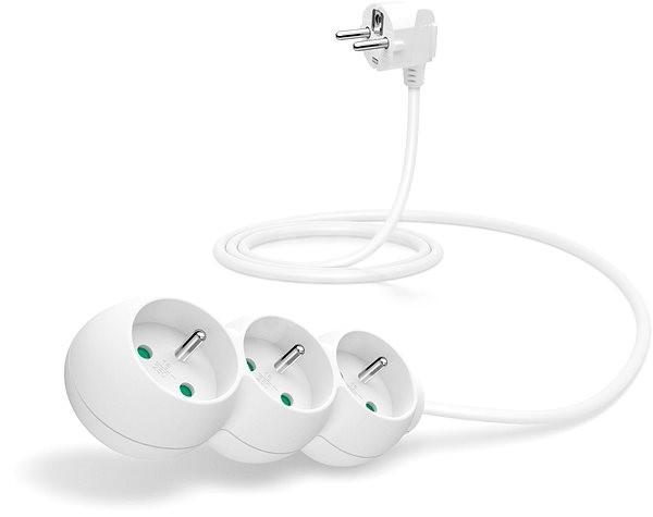 CONNECT IT Verlängerung 230 V, 3 Steckdosen, 1,5m, weiß - Kabel ...
