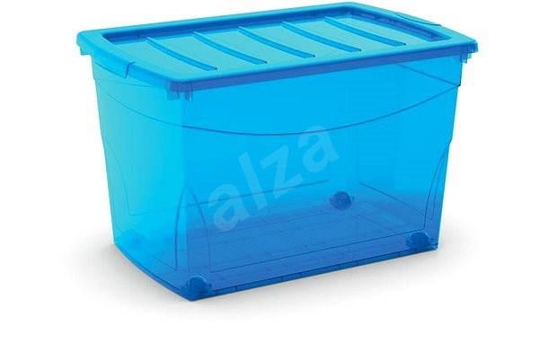 KIS Omnibox XL blau 60l auf Rädern - Aufbewahrungsbox