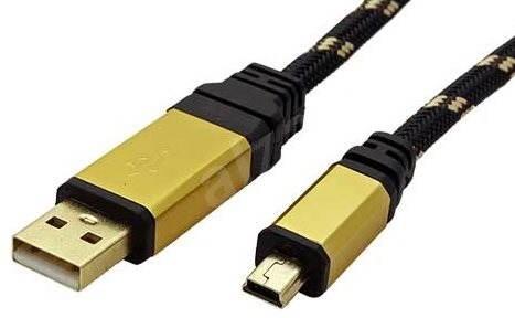 USB Kabel ROLINE gold USB 2.0 USB A(M) -> mini USB mini 5pin B (M ...