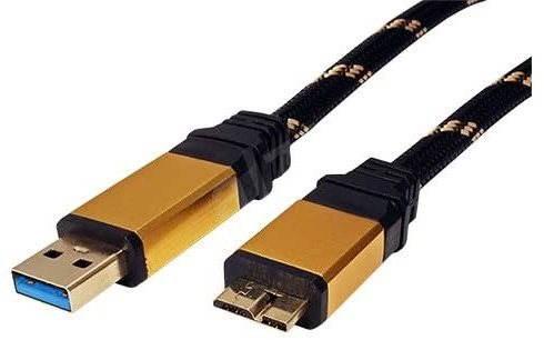 Roline GOLD, USB-Kabel, USB 3.0 Superspeed A(M) --> Micro-USB-3.0 B ...