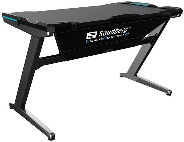 Sandberg Fighter Gaming Schreibtisch Schwarz Grau